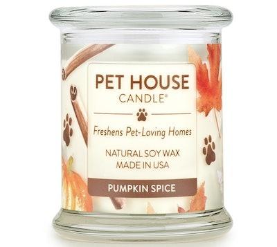 One Fur All Pet Odor Eliminator Candle (Pumpkin Spice Scent)