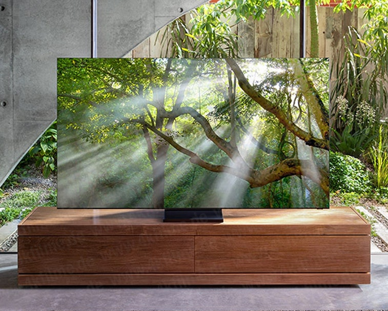 "Samsung's forthcoming ""zero-bezel"" TV"