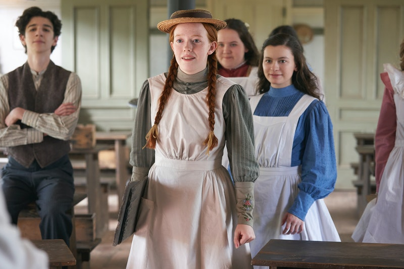 Anne with her school friends in Season 3 of Anne with an E.