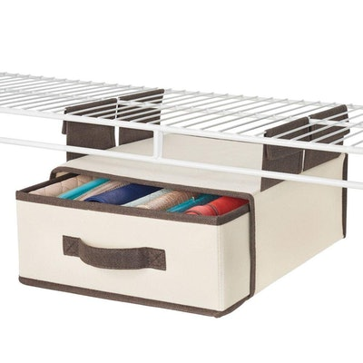 mDesign Soft Fabric Over Closet Shelving Hanging Storage Organizer