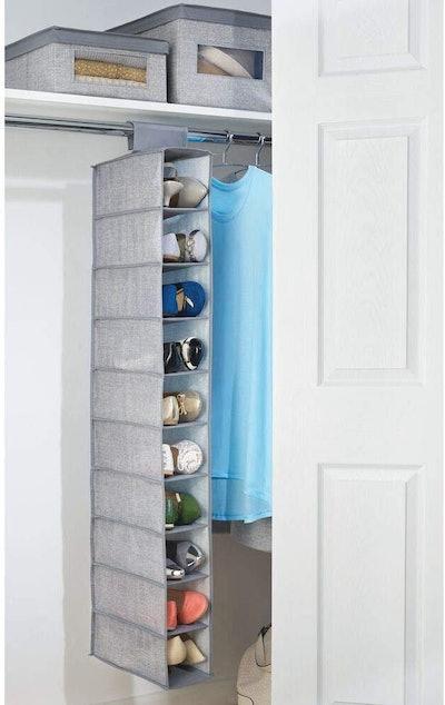 mDesign Soft Fabric Closet Organizer