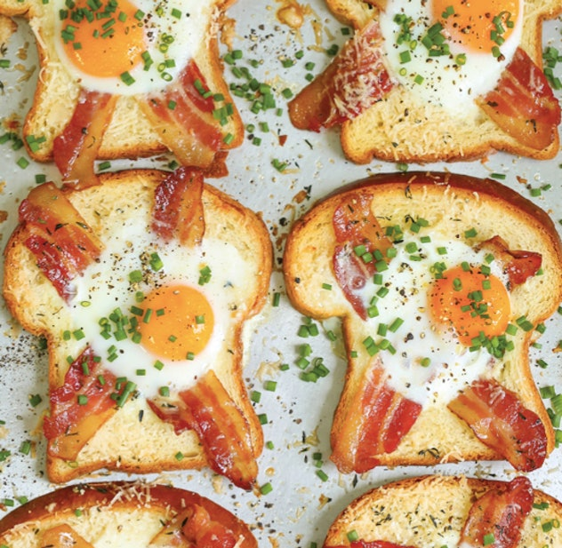 Egg in a hole gets the gourmet treatment with added bacon and parmesan