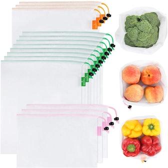 GOGOODA Reusable Produce Bags (15-Piece Set)
