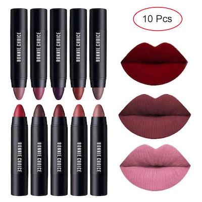 BONNIE CHOICE Matte Lipstick Crayons (10-Pack)