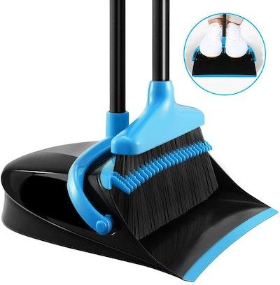 Homemaxs Broom and Dustpan Set