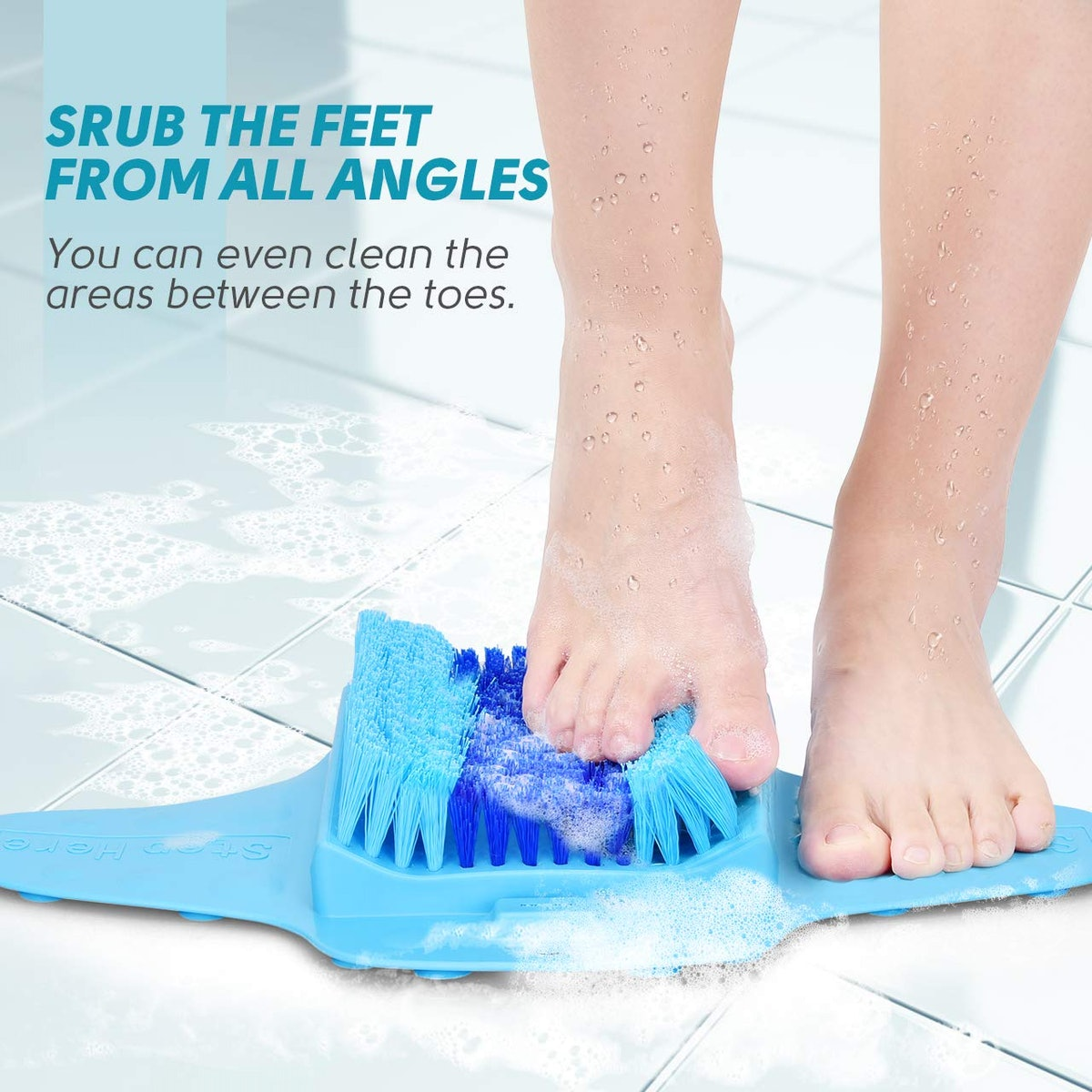 BESKAR Foot Scrubber for Shower with Pumice Stone