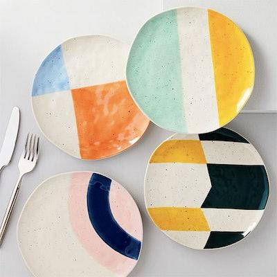 Pastel Speckle Salad Plates (Set of 4)