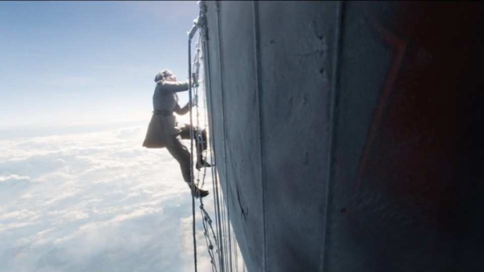 Felicity Jones stars as a pilot in the new Amazon original 'The Aeronauts'