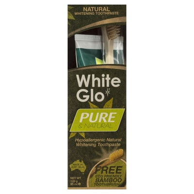 White Glo Pure and Natural Whitening Toothpaste