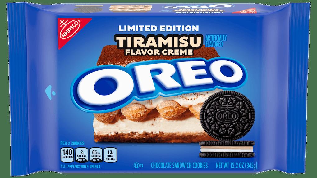 Oreo's New Tiramisu Flavor For 2020 features the traditional dessert's flavors of chocolate, espresso, and mascarpone.