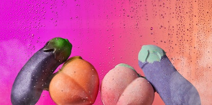 Lush's eggplant and peach bath bombs are returning in 2020.
