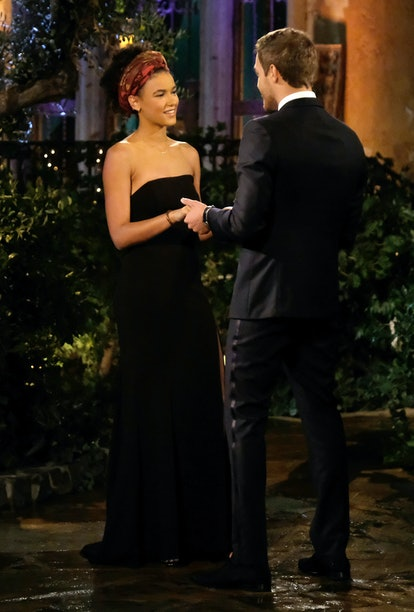 The Bachelor's Alexa wore a simple black gown.