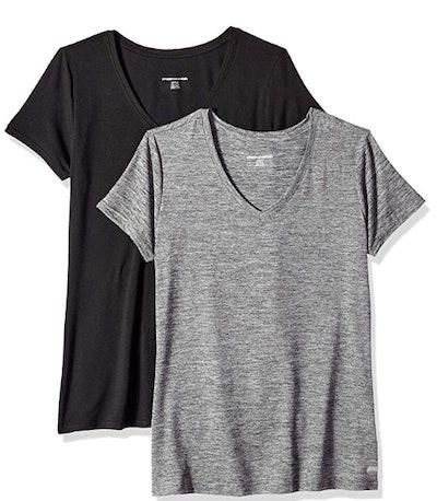 Amazon Essentials Tech Stretch Short-Sleeve V-Neck T-Shirt (2-Pack)