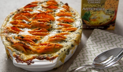 This sweet potato gratin recipe is the ultimate Super Bowl dish.