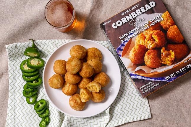 Cornbread bites are an easy Super Bowl dish.