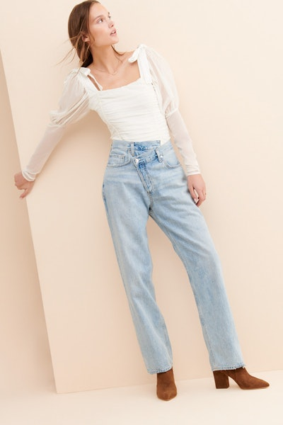 Criss Cross Upsized Jeans