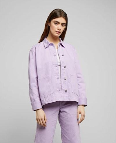 Dual Lilac Denim Jacket