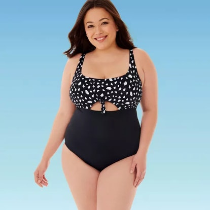 Miracle Brands' Women's Plus Size Slimming Control Peek A Boo Cut Out Once Piece Swimsuit