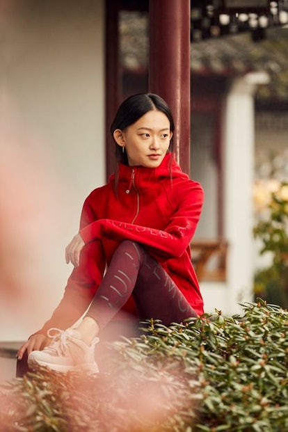 Lululemon's Lunar New Year collection features the traditional colors red and gold.