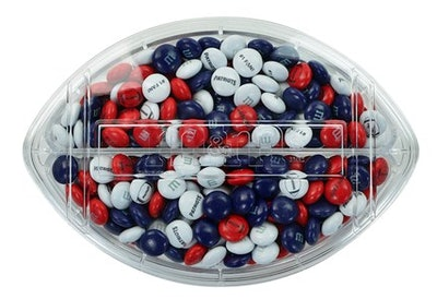 Personalized M&M's in a Football Gift Box