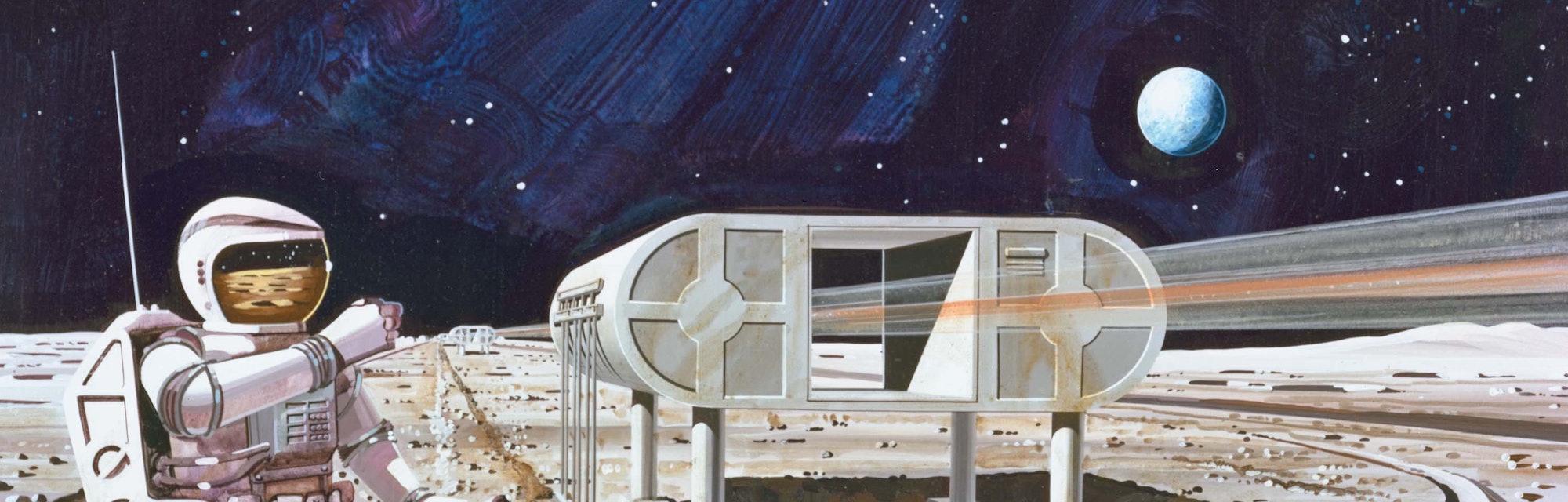 Artist's render of lunar habitat