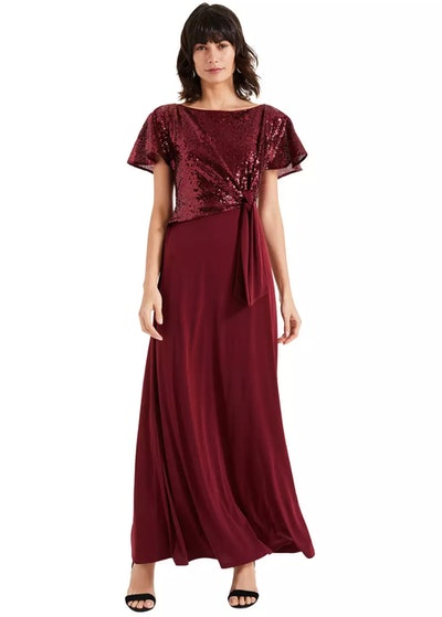 Phase Eight - Red Rumi Knot Front Maxi Dress