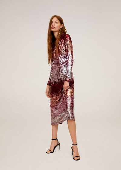 Mango Sequinned Gown