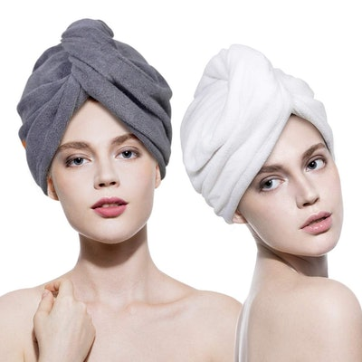 Lovife Microfiber Hair Towel Wrap (2-Pack)