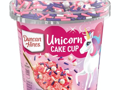 Duncan hines unicorn cake cup