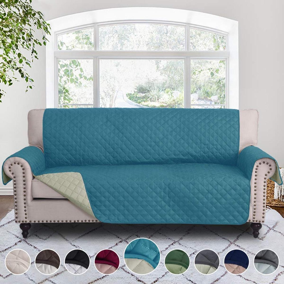 Rose Home Fashion Reversible Sofa Cover