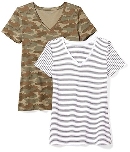 Amazon Essentials Women's V-Neck T-Shirt (2 Pack)