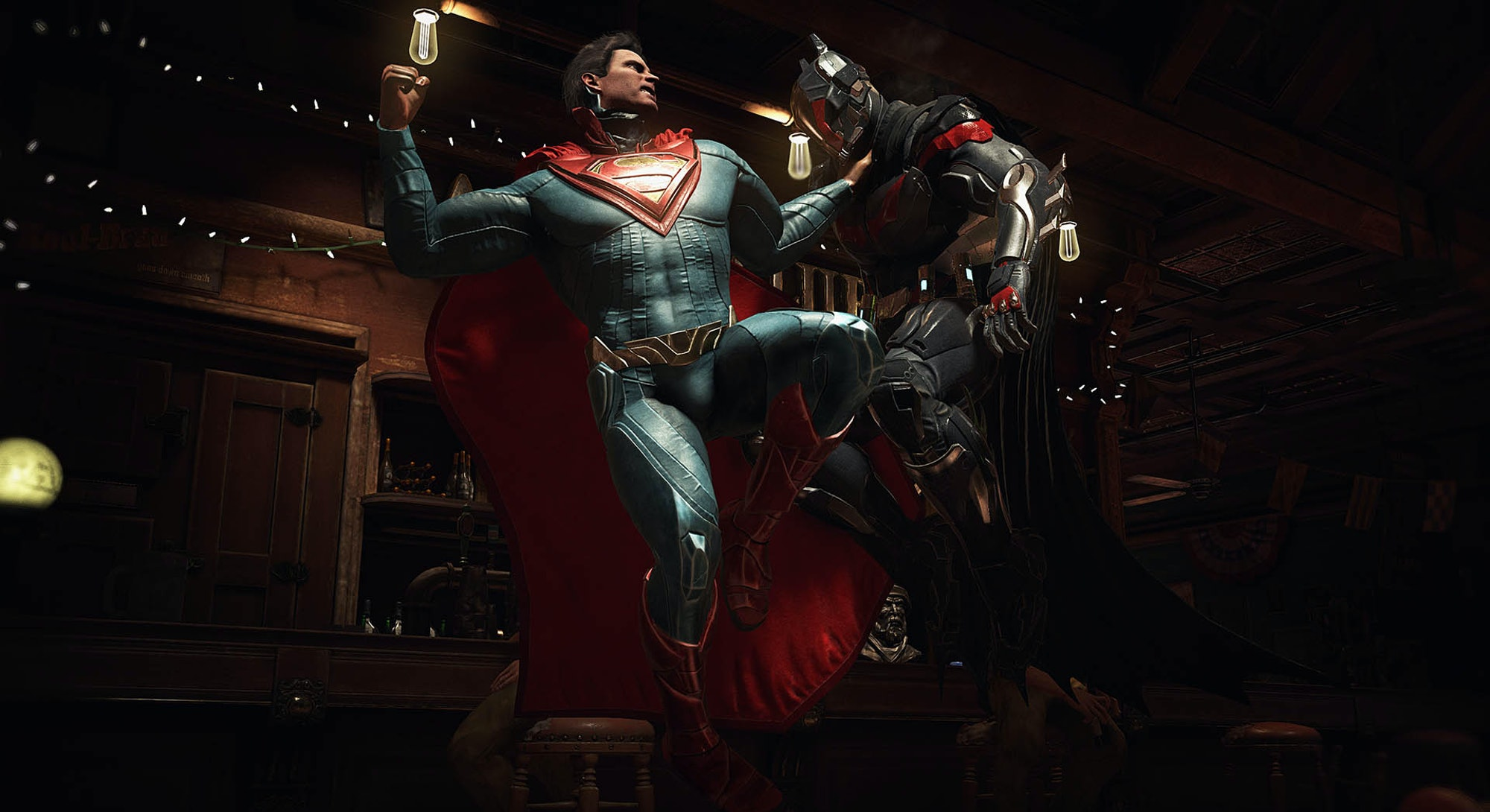 Superman and Batman, in 'Injustice 2.'