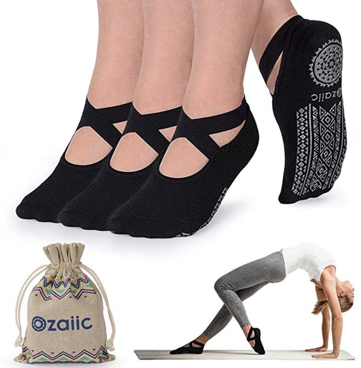 Ozaiic Yoga Socks (3-Pack)