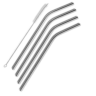 Sipwell stainless steel drinking straws, set of 4