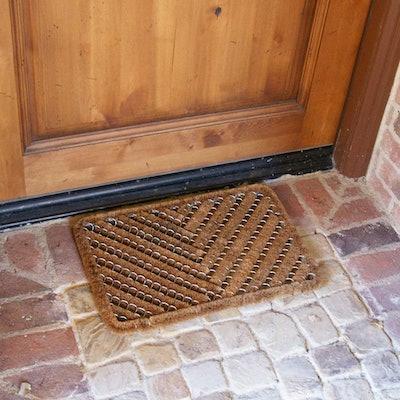 Rubber-Cal Herringbone Outdoor Scraper Door Mat