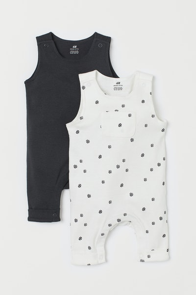 2-Pack Sleeveless Rompers