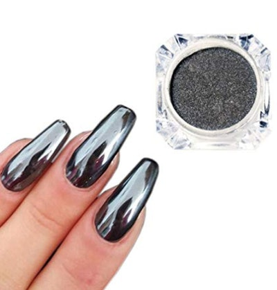 Nail Art Chrome Black Mirror Powder