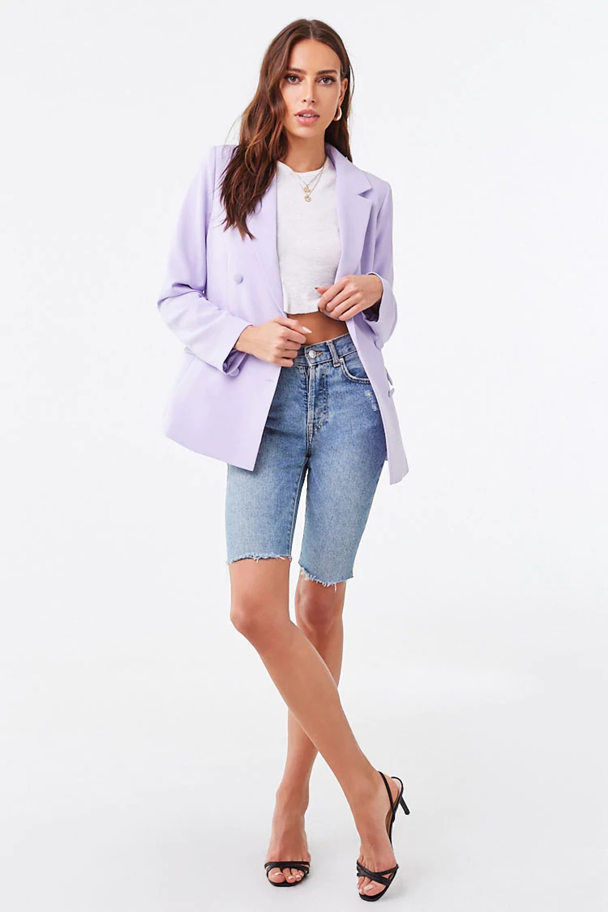 Forever 21 Double-Breasted Single Vent Blazer