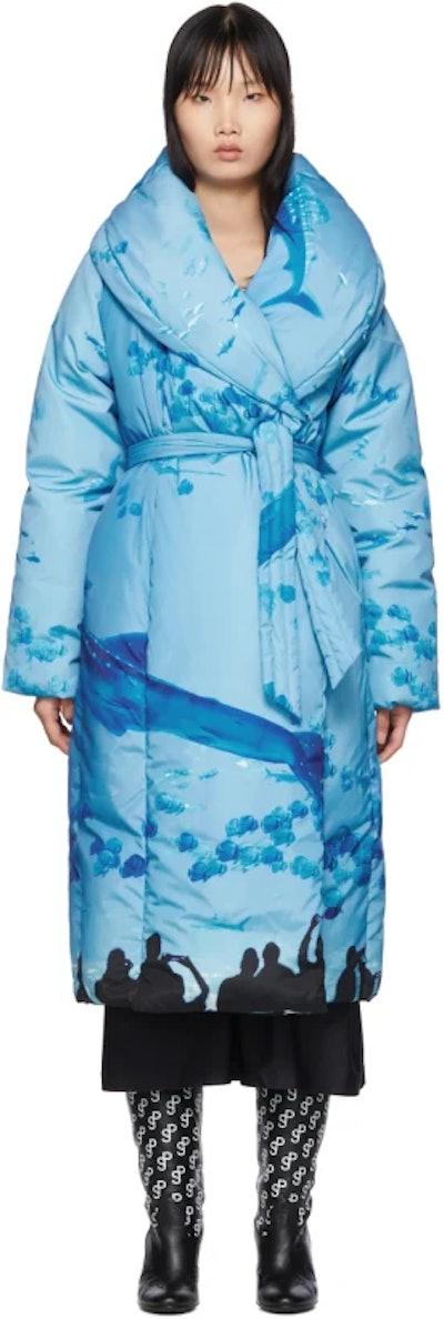 SSENSE Exclusive Blue Sauna Puffer Coat