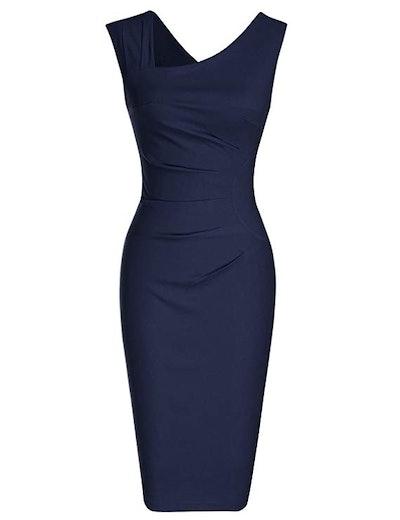 MUXXN Women's Retro Pencil Dress