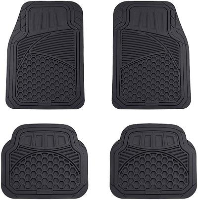 AmazonBasics 4-Piece Heavy-Duty Car Floor Mat