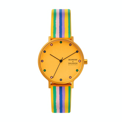 Aaren Three-Hand Multicolored Striped Silicone 36mm Watch