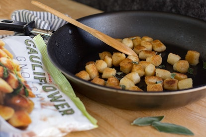 Trader Joe's Cauliflower Gnocchi is a believable substitute for traditional gnocchi.