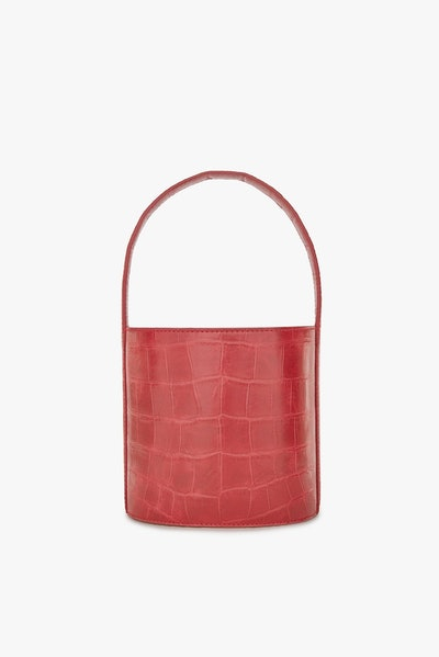 Bissett Bag / Tomato Croc Embossed
