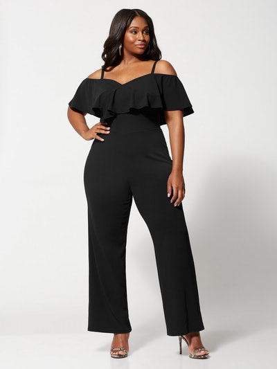 Fantasia Ruffle Jumpsuit in Black