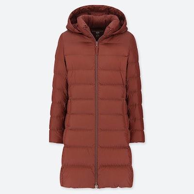 Ultra Light Down Hooded Coat