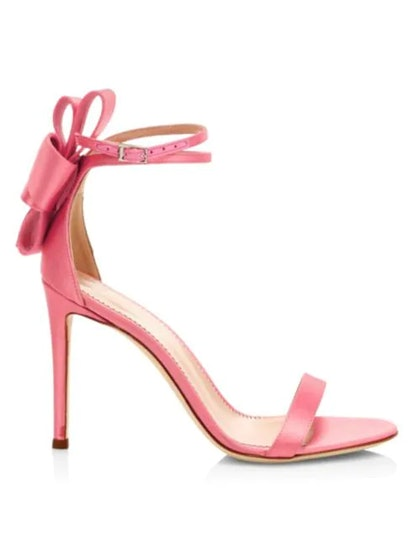 Back Bow Silk Sandals