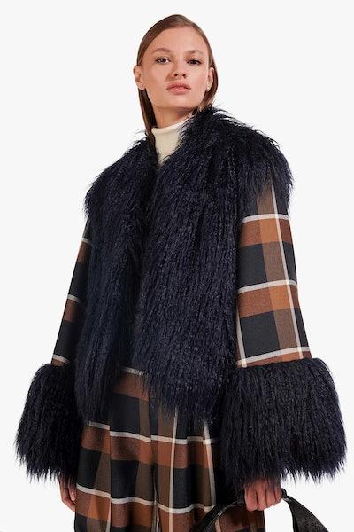Cece Coat / Navy Dark Plaid