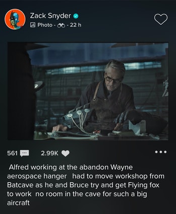 Zack Snyder Justice League Alfred
