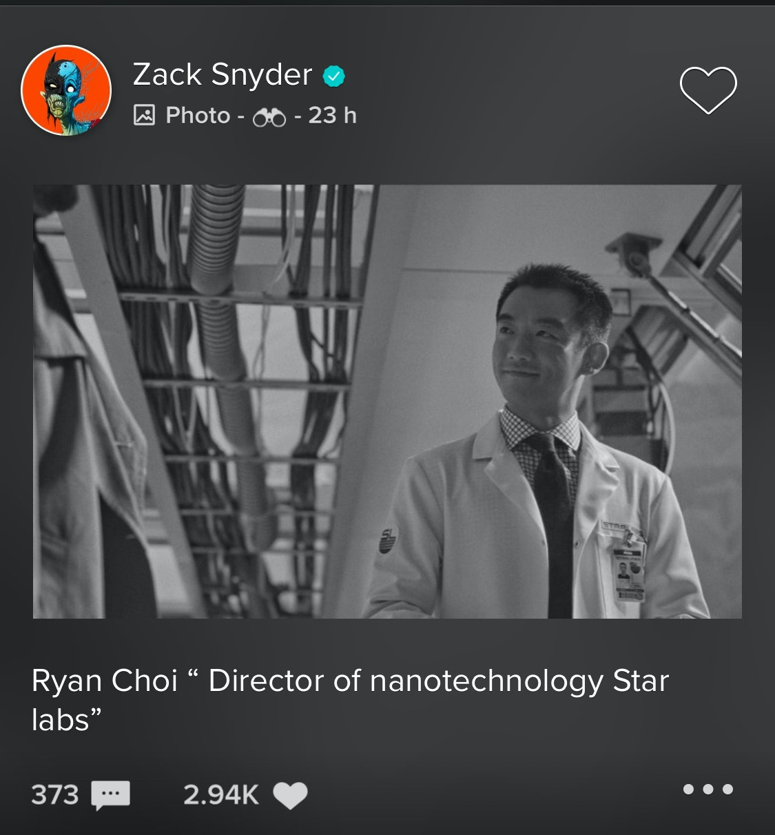 Zack Snyder Justice League Ryan Choi